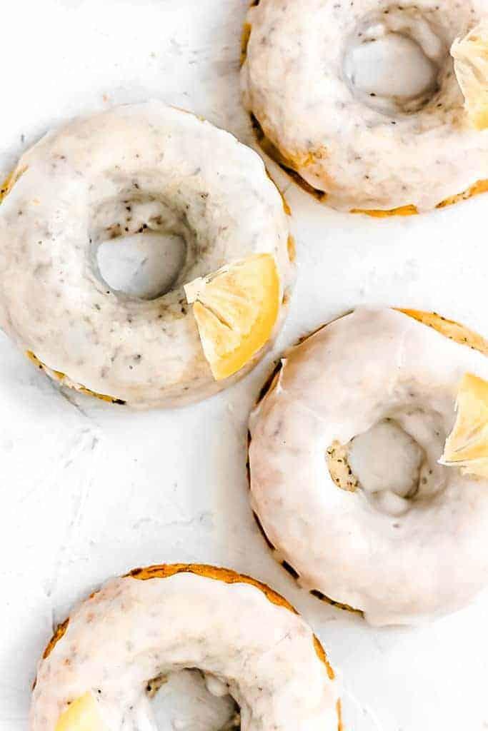 Baked Lemon Poppyseed Donuts Recipe (vegan, Paleo, gluten free)