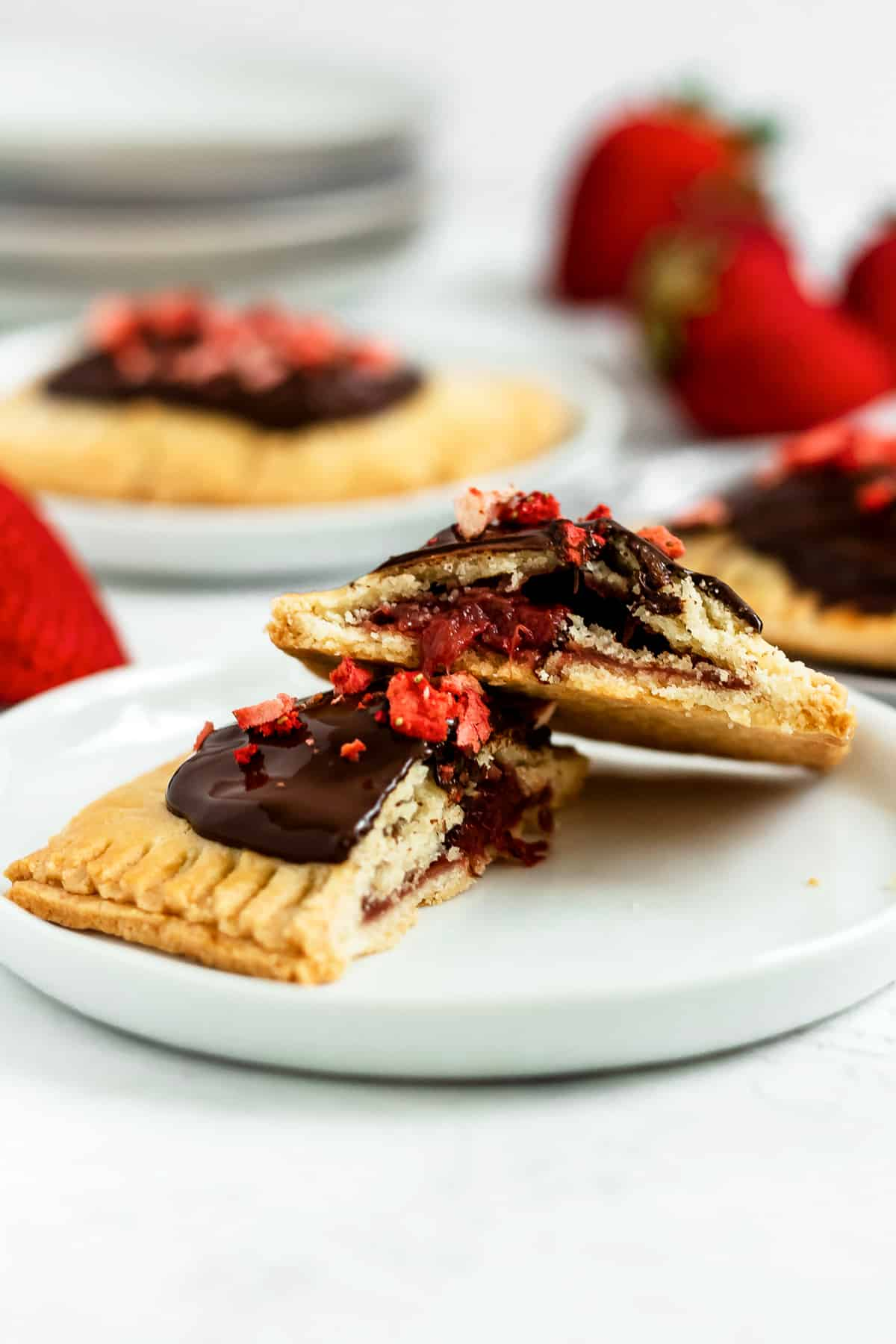 Paleo Chocolate Covered Strawberry Pop Tarts (gluten free, grain free, refined sugar free)
