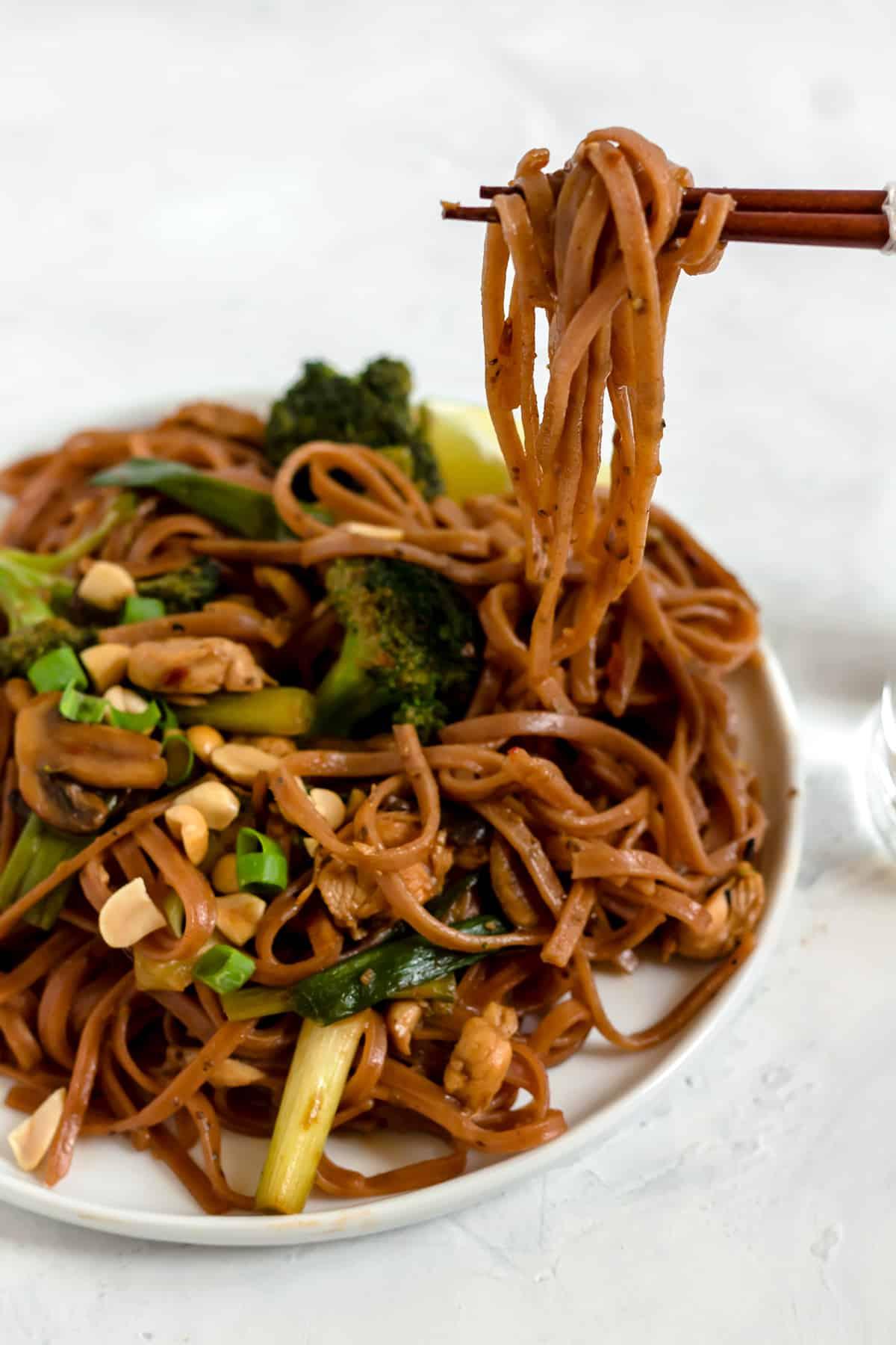 20 Minute Spicy Thai Noodles (gluten free, dairy free)
