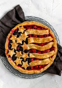 Easy American Mixed Berry Pie for the 4th of July