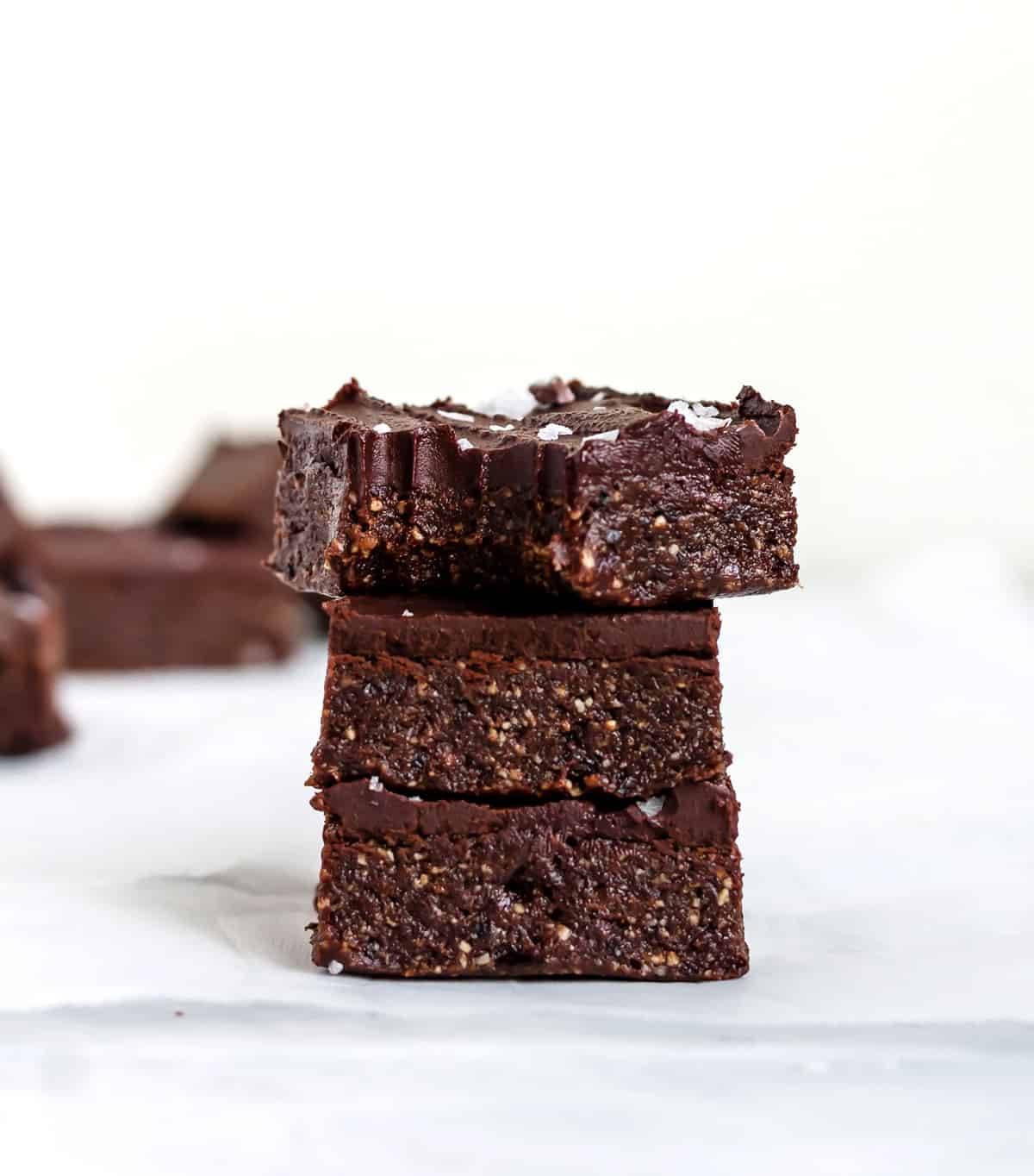 Chewy and fudgy raw brownie recipe