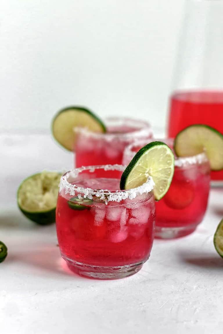 Skinny Jalapeño Watermelon Margaritas