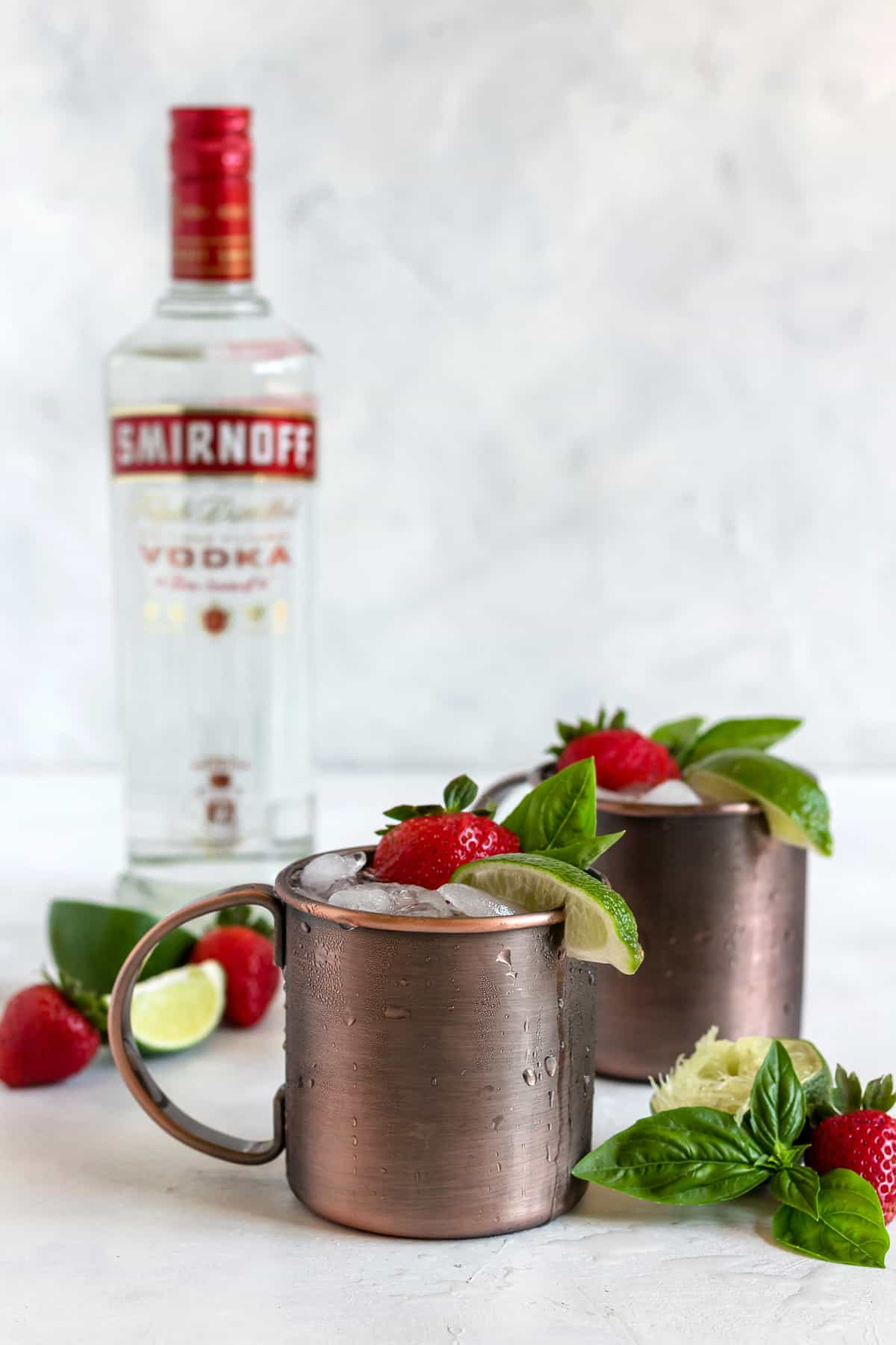 Strawberry Basil Moscow Mule 3