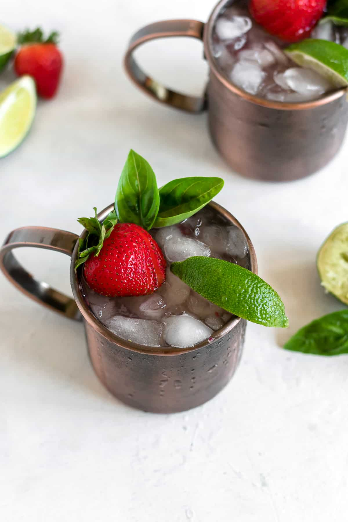 Strawberry Basil Moscow Mule