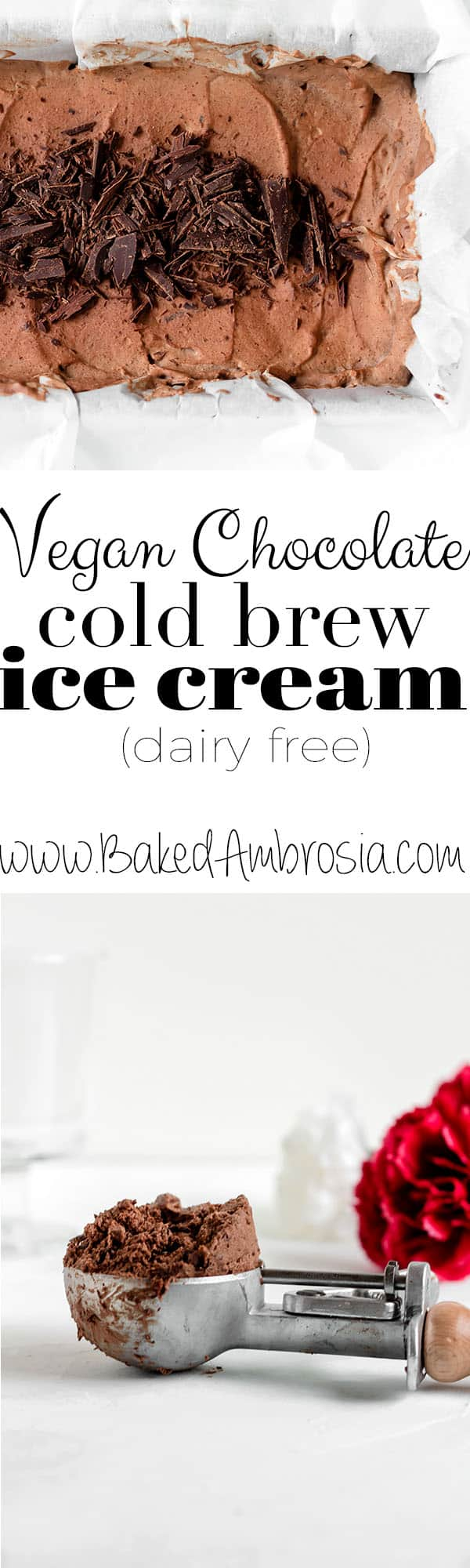 Vegan Chocolate Cold Brew Ice Cream (dairy free)