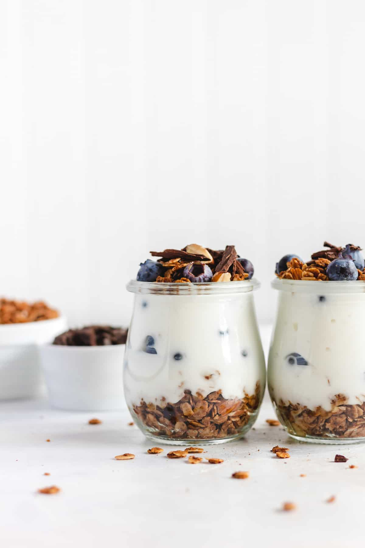Almond Butter Vanilla Bean Granola with Cacao Nibs