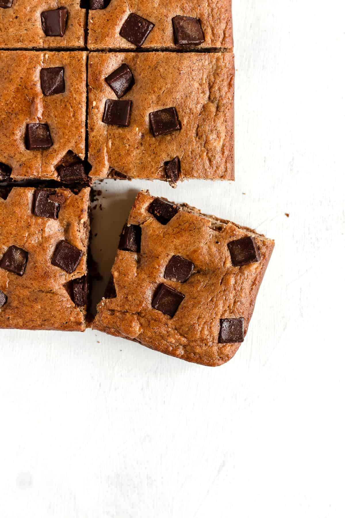 Paleo Chocolate Chunk Banana Bread Bars (gluten free, grain free, dairy free)