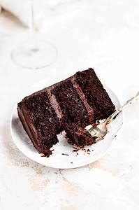 chocolate fudge cake on a plate