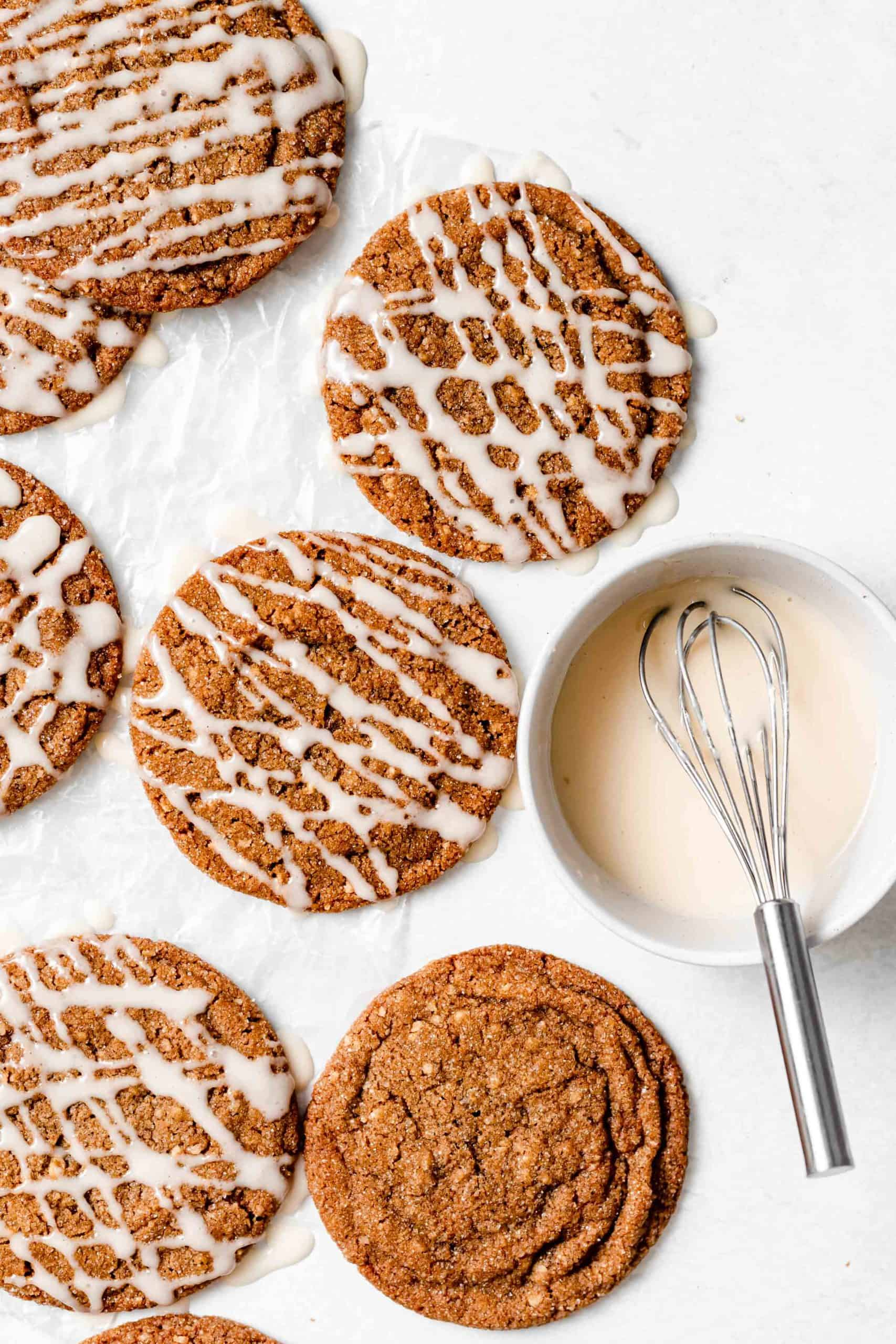walnut spice cookies with glaze
