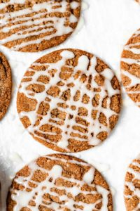 walnut spice cookies with honey glaze