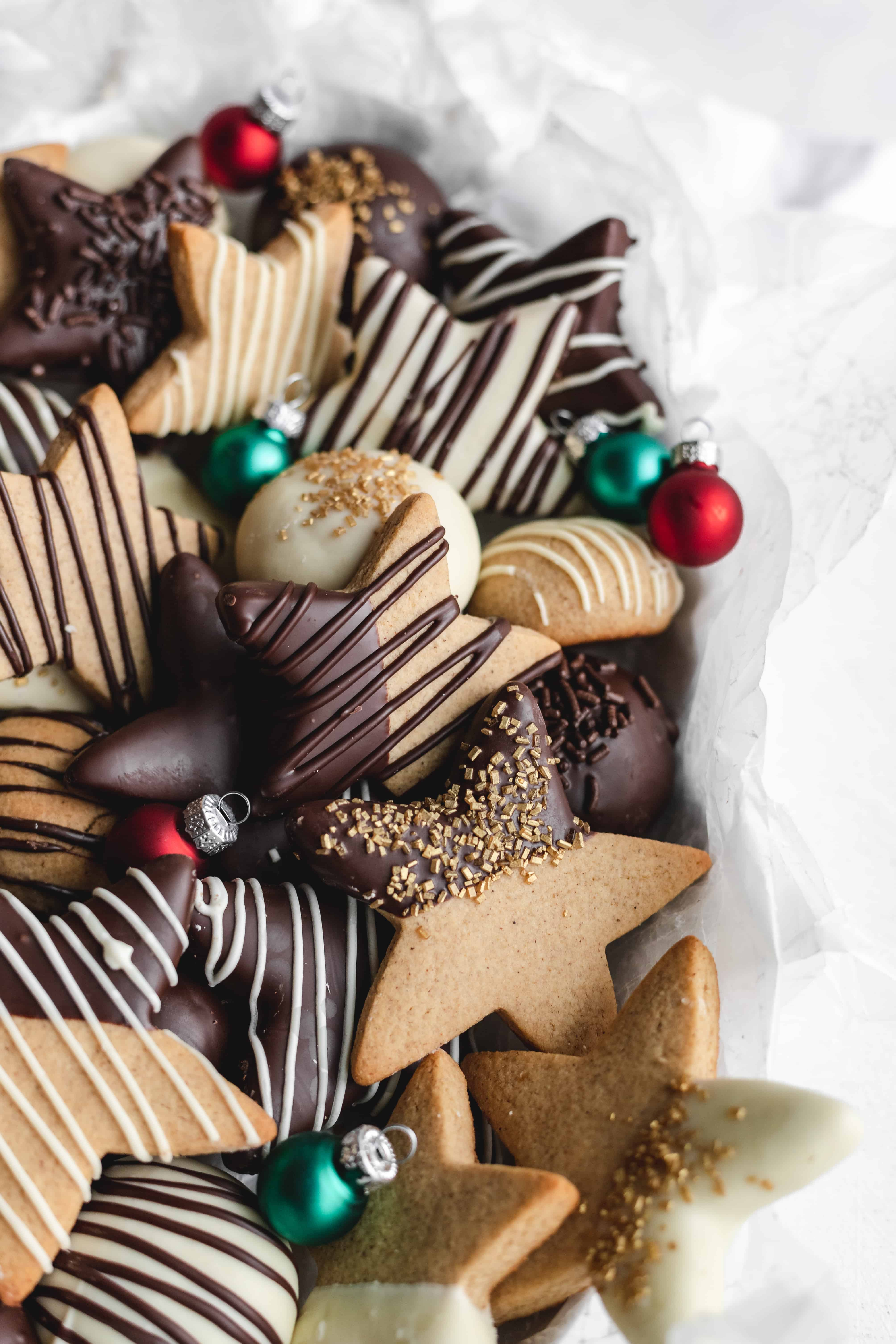 Chocolate Covered Gingerbread Cookies