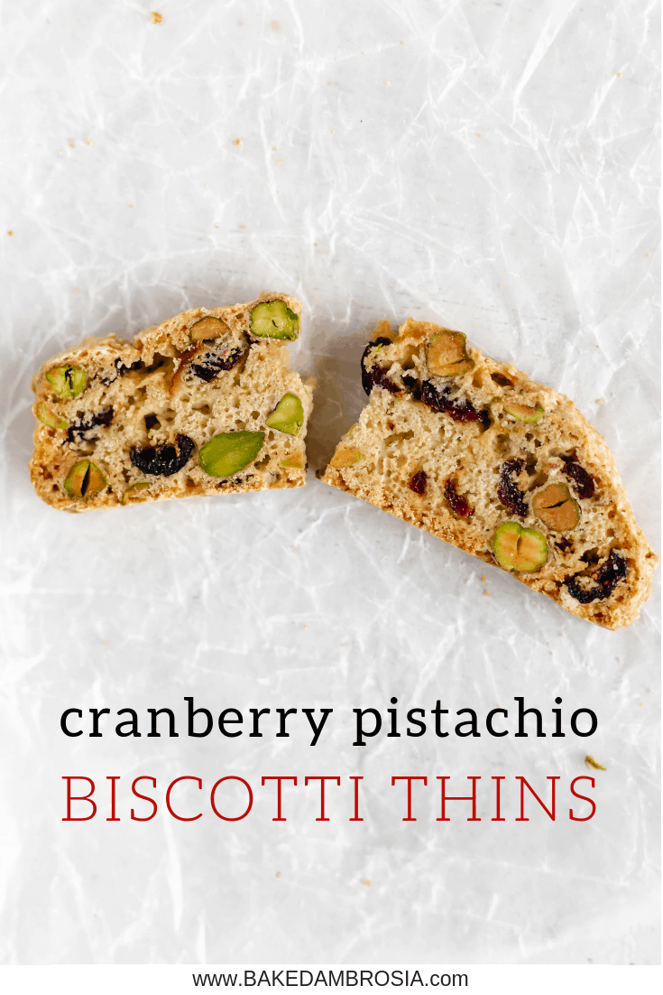 Cranberry Pistachio Biscotti Thins