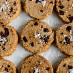 Salted Chocolate Chunk Espresso Shortbread Cookies