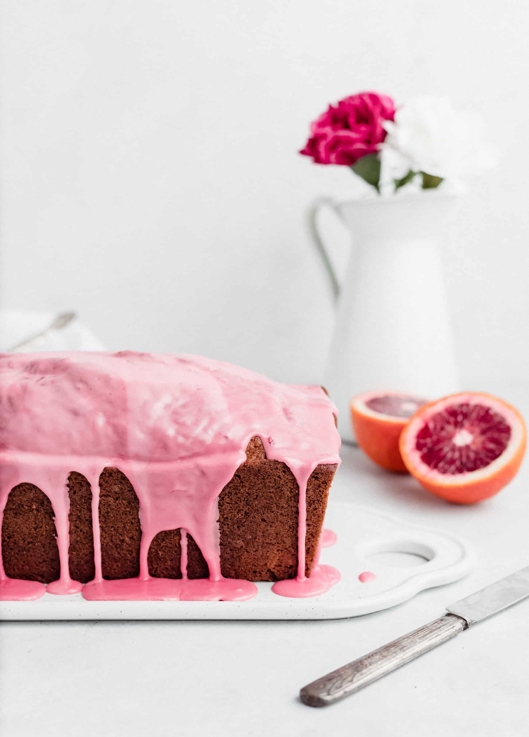 Blood Orange and Almond Olive Oil Loaf Cake