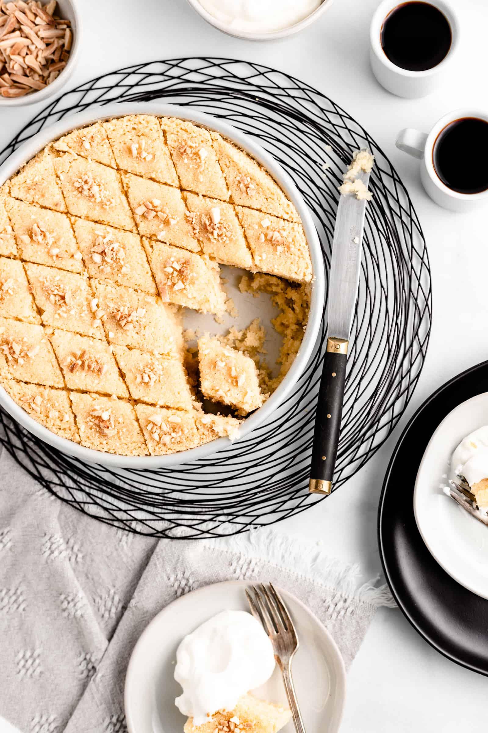 Orange Blossom Semolina Cake