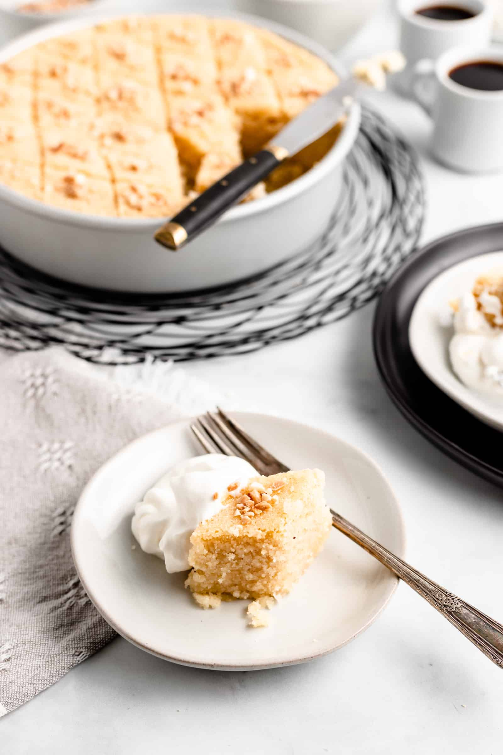 Blossom Water Semolina Cake - this one bowl, no fuss cake will be your new favorite!