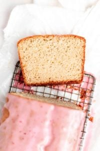 slice of moist orange loaf cake