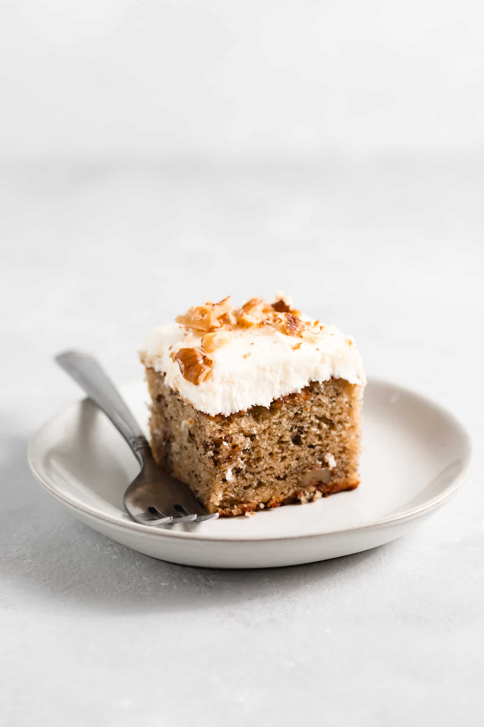 One Layer Banana Nut Cake With Cream Cheese Frosting