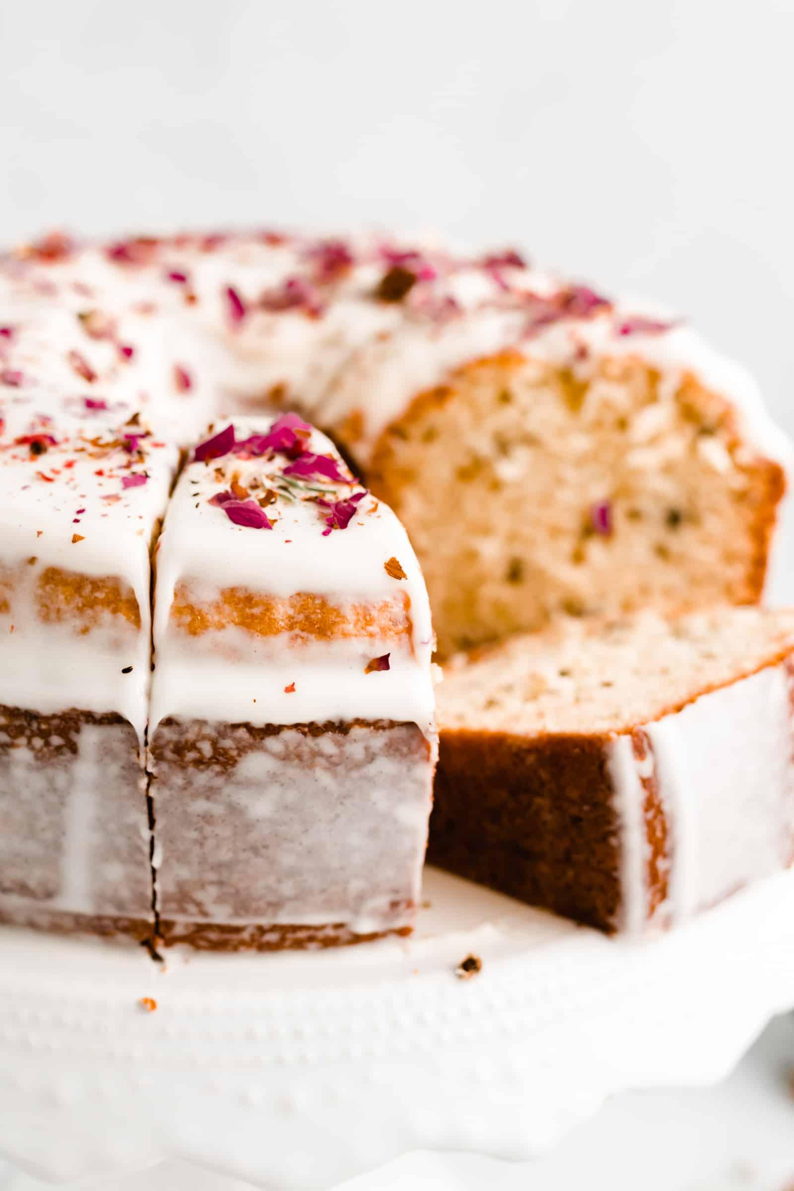 Rose Cake with Cream Cheese Glaze