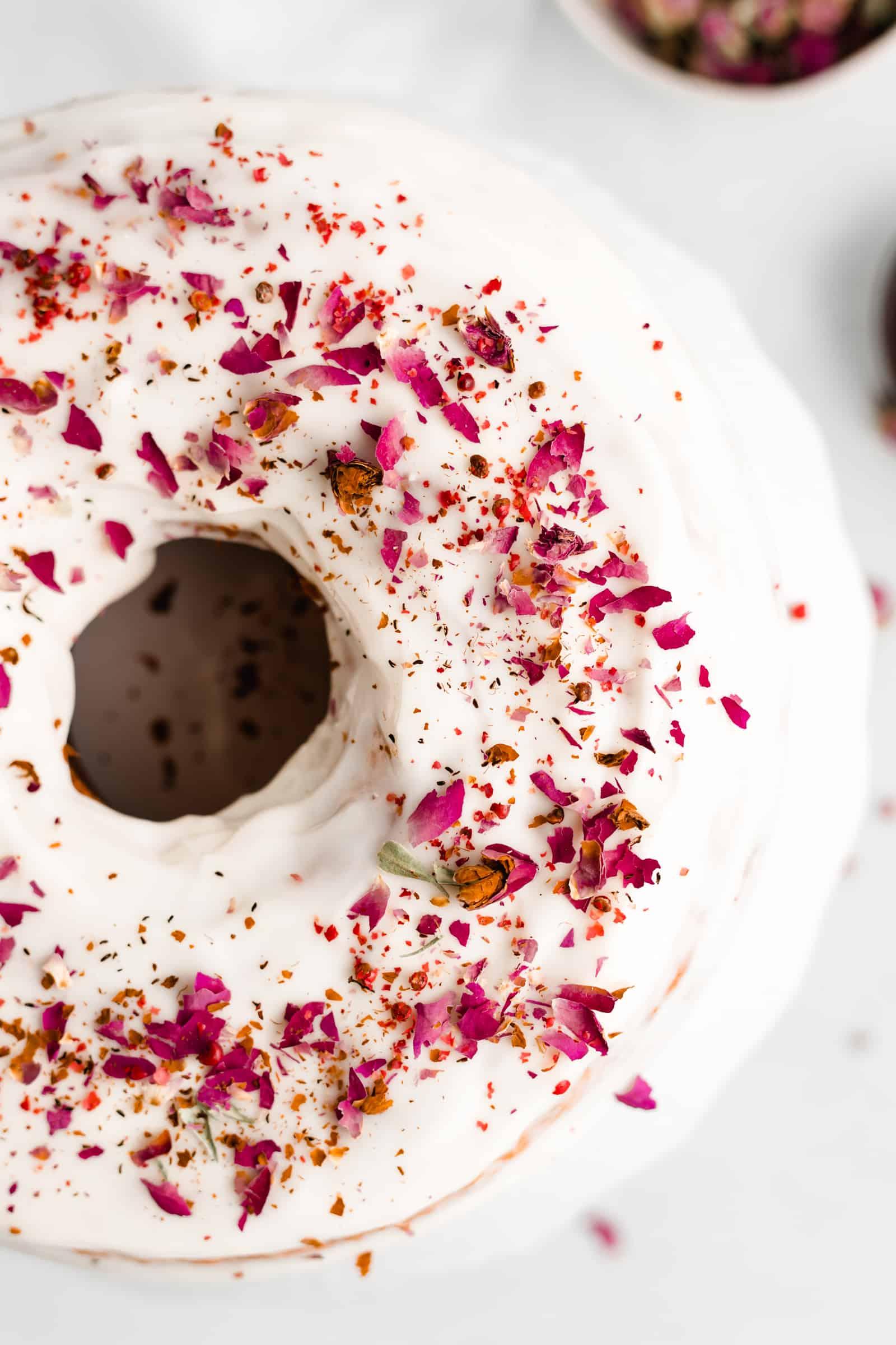 Rose and Pink Peppercorn Cake Recipe