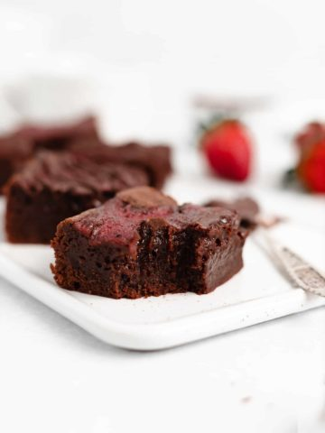 The BEST Strawberry Swirl Fudge Brownies - These brownies are decadent, rich, and chocolatey with a colorful and delicious strawberry swirl!