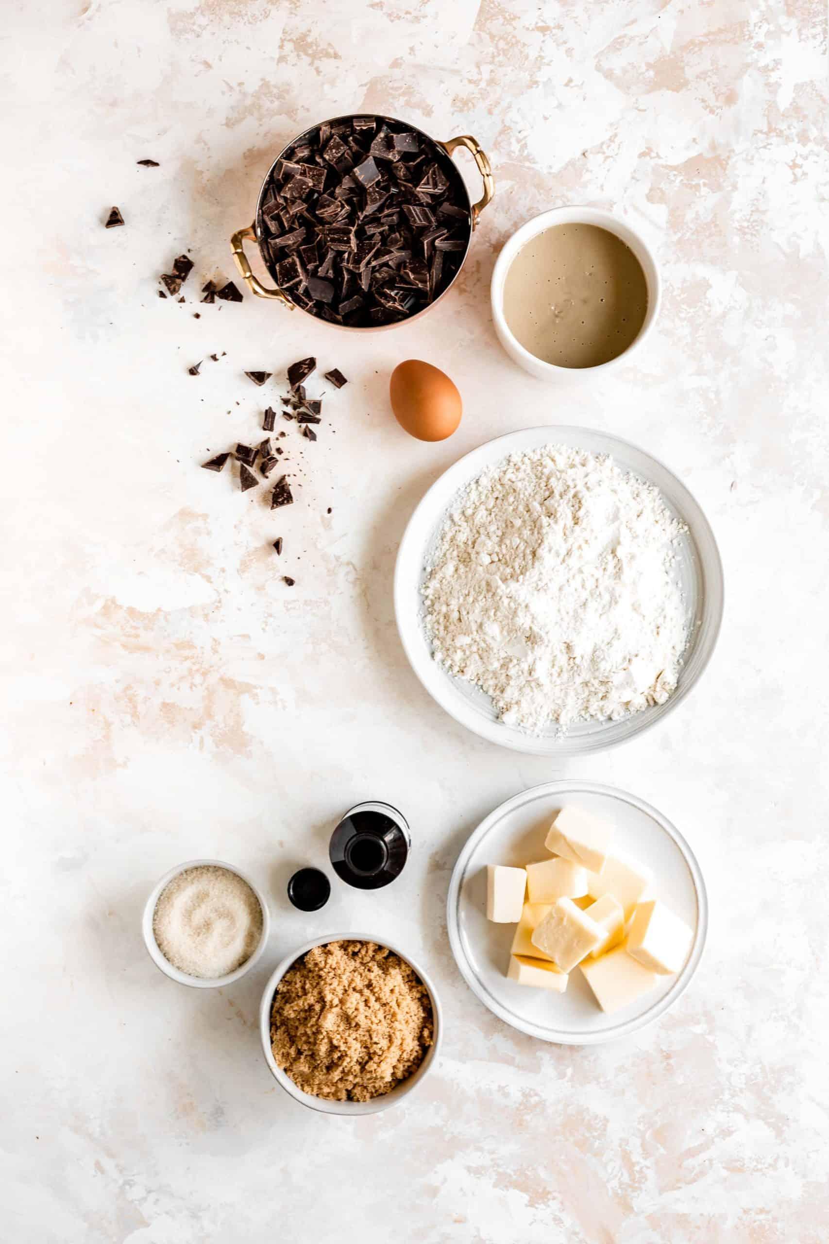 tahini chocolate chip cookie recipe ingredients