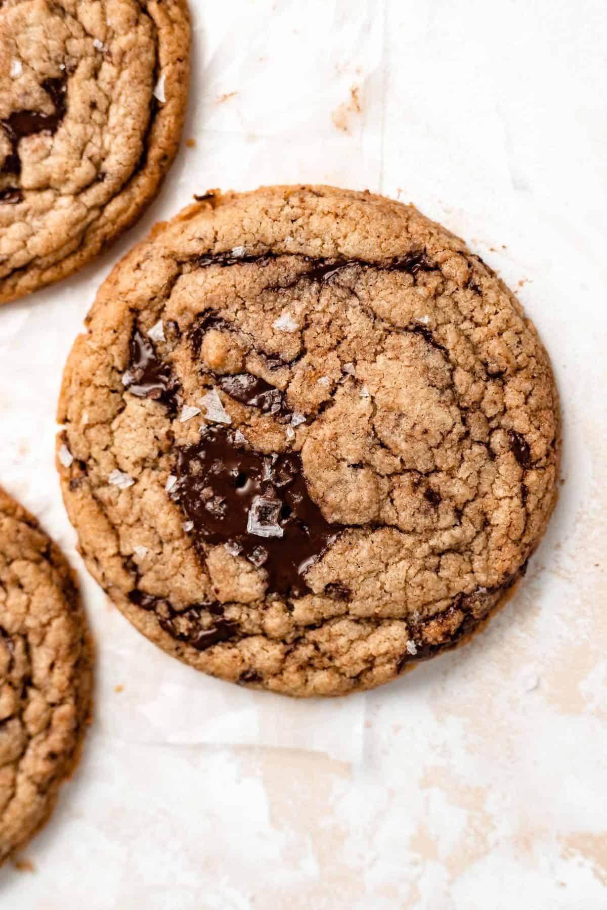 tahini chocolate chip cookie