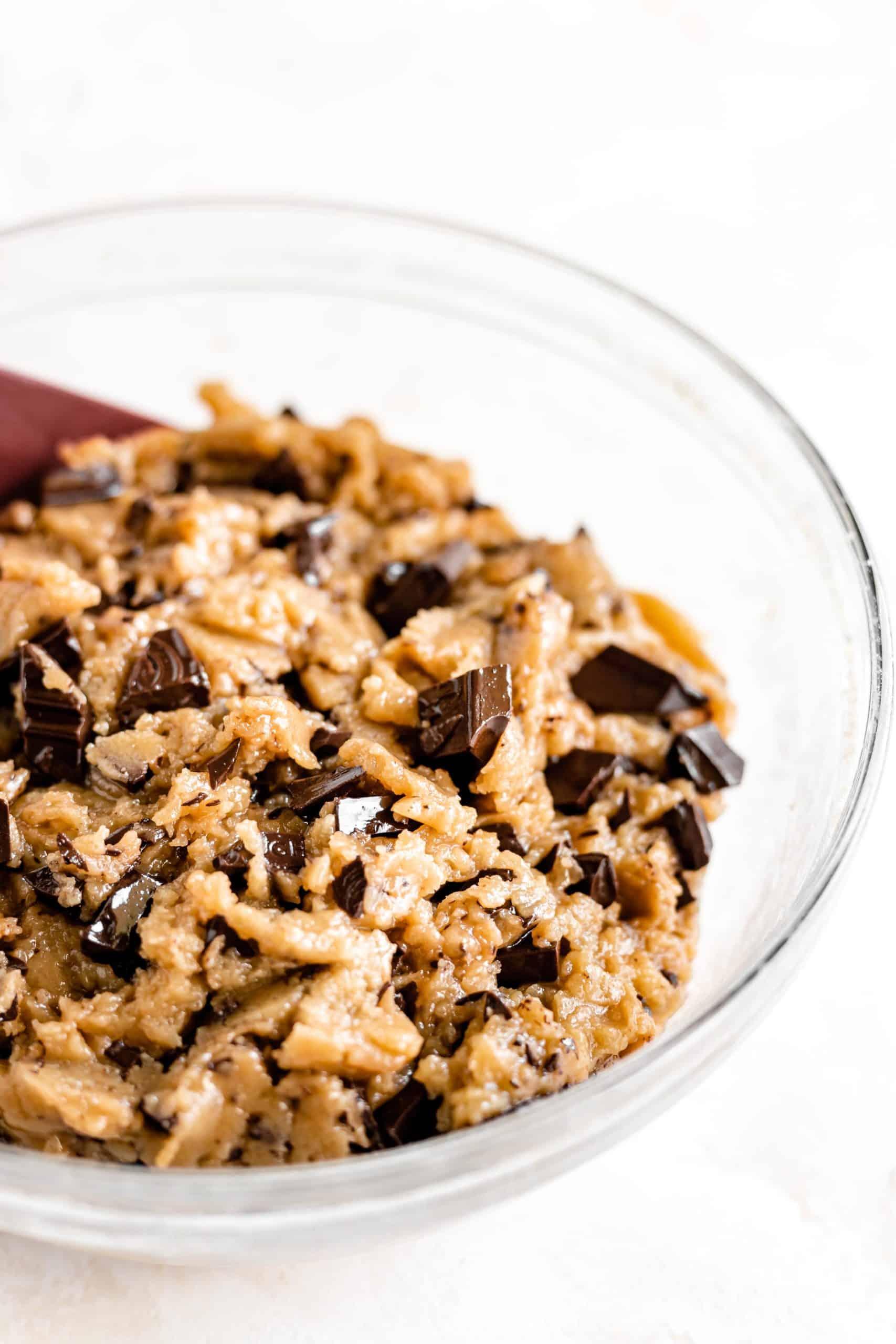 tahini chocolate chip cookie dough