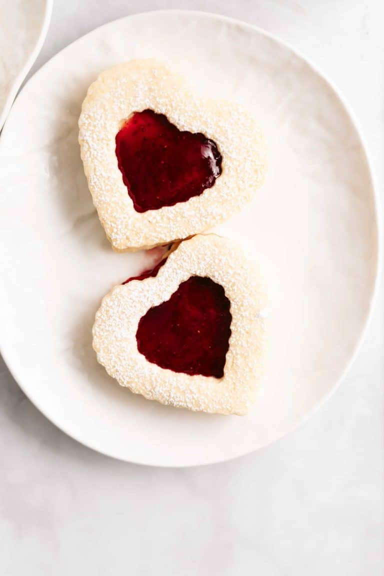 This small batch of Strawberry Shortbread Cookies are buttery, crispy, and the perfect amount to share with your favorite someone!