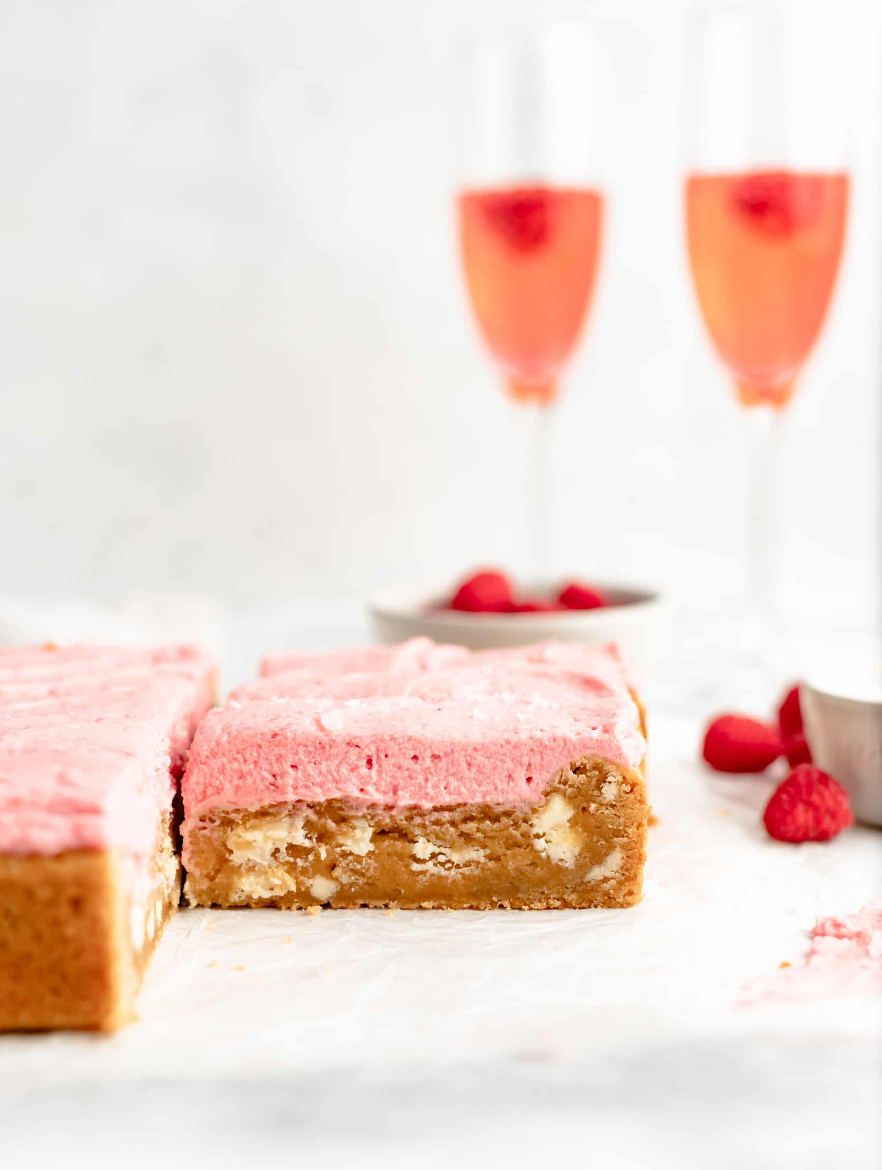 Raspberry White Chocolate Blondie Recipe