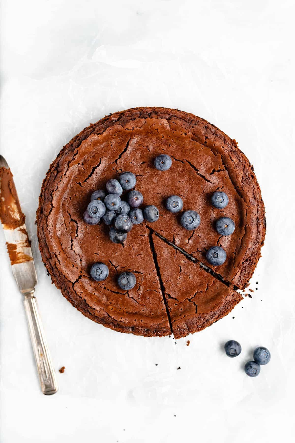 Easy no-fuss chocolate cheesecake recipe.