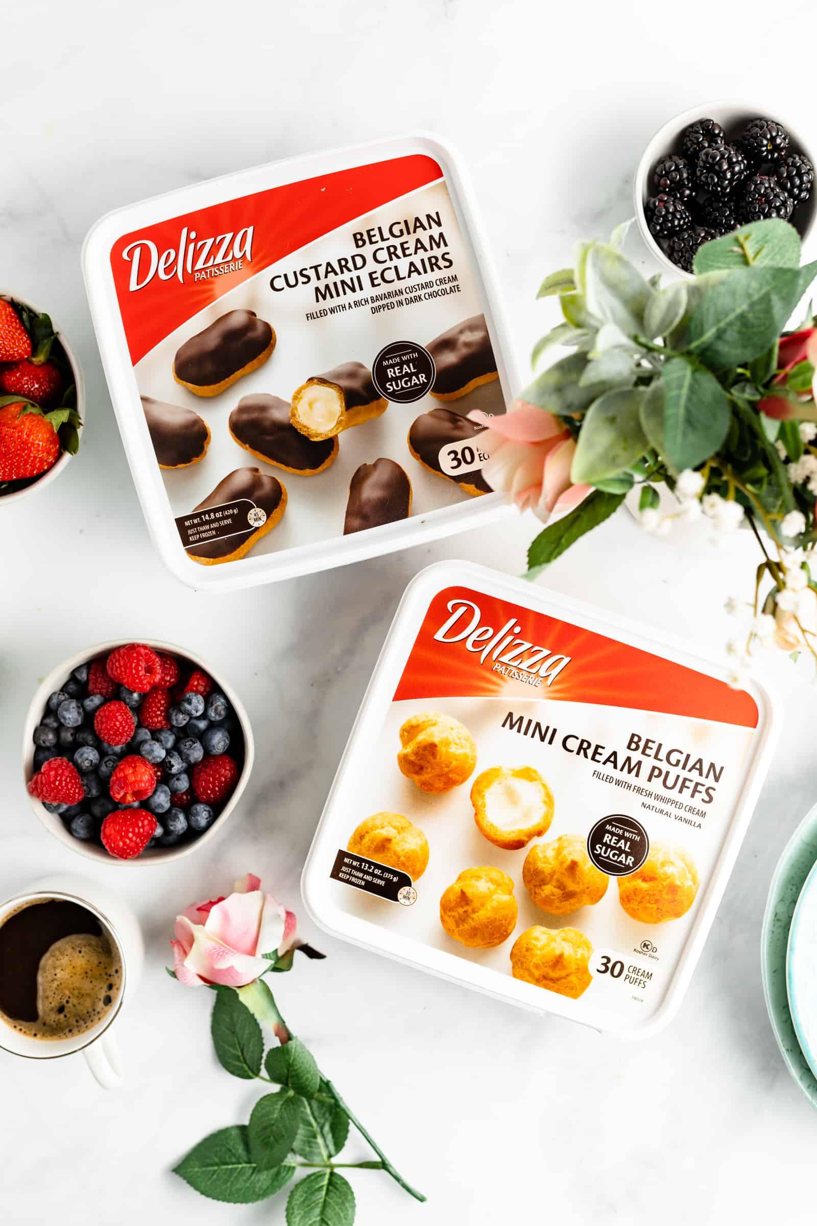 Delizza Cream Puffs and Eclairs