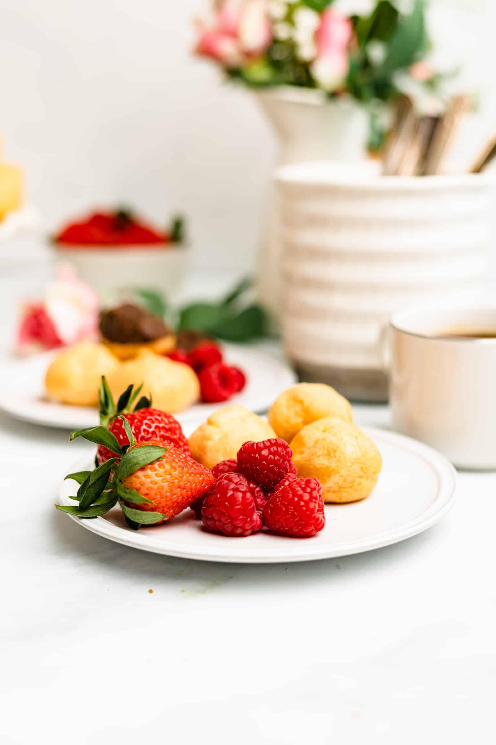 Cream Puff Food Photography