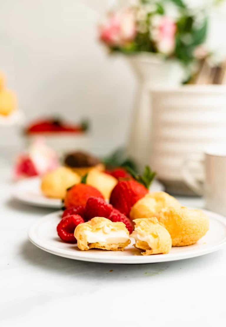 Cream Puff Food Styling