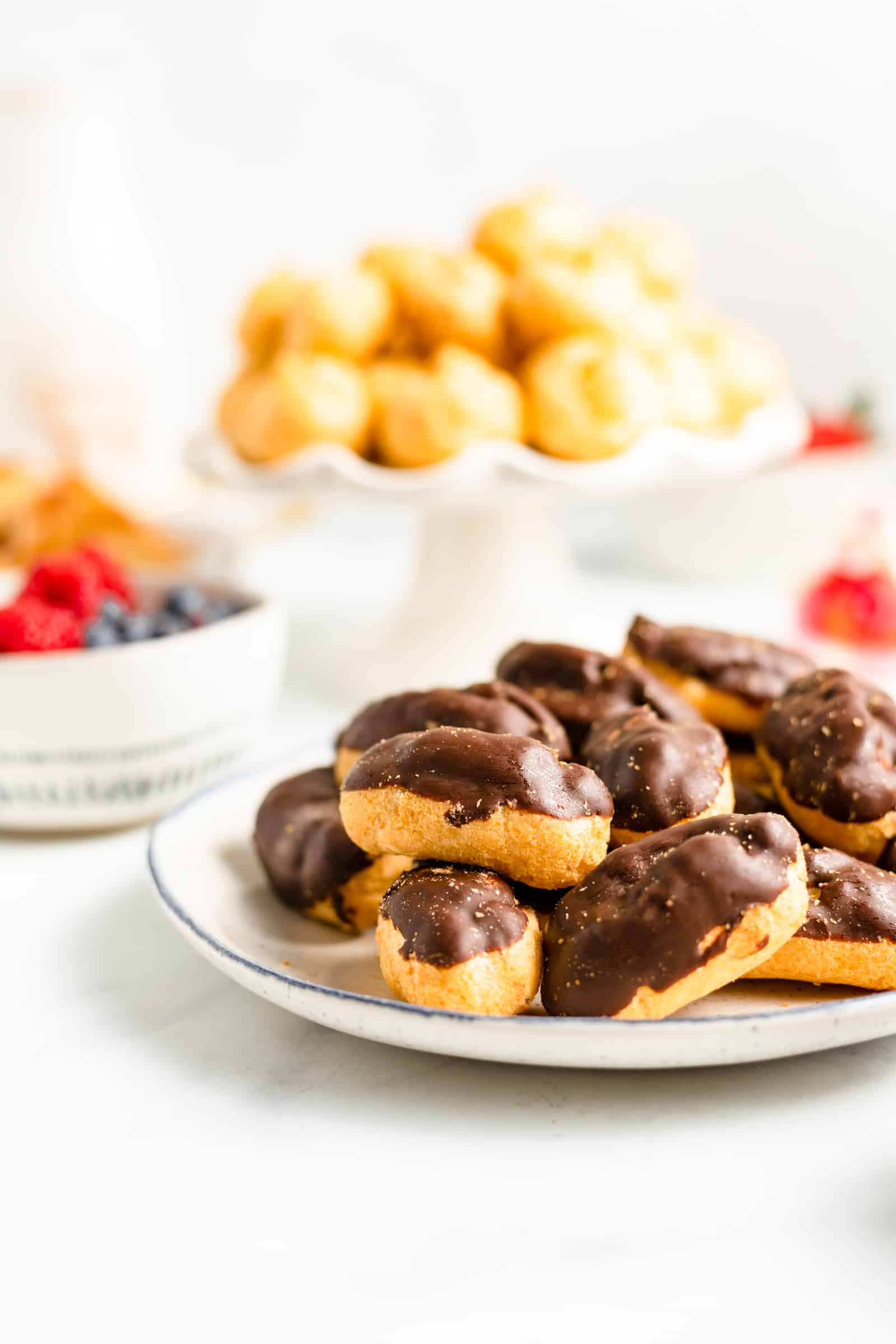 Chocolate covered eclairs
