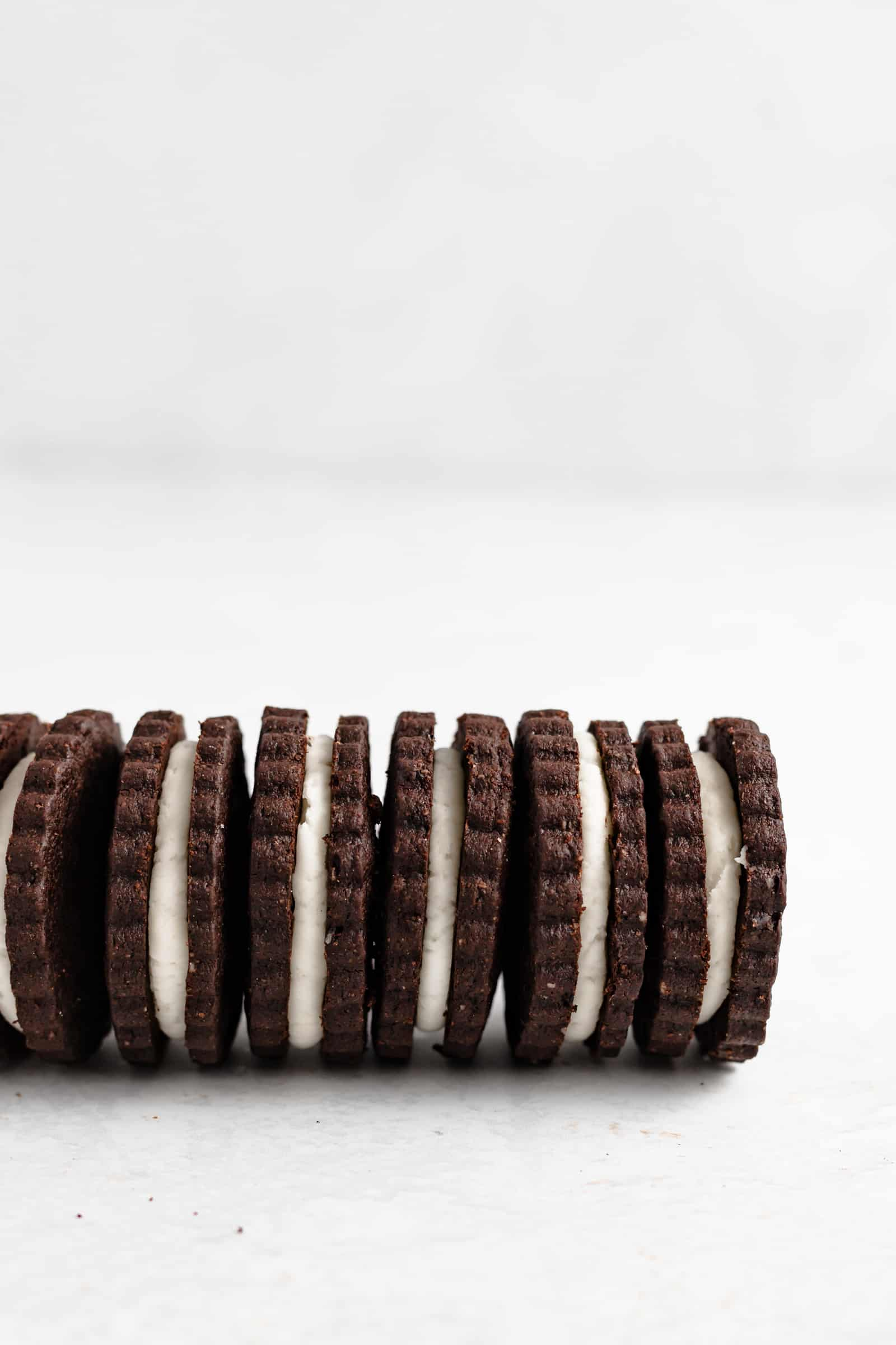 Cream Filled Chocolate Sandwich Cookies - The BEST homemade Oreo cookie recipe