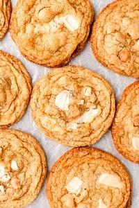 """Pan-Banging"" White Chocolate Macadamia Nut Cookies #cookies"