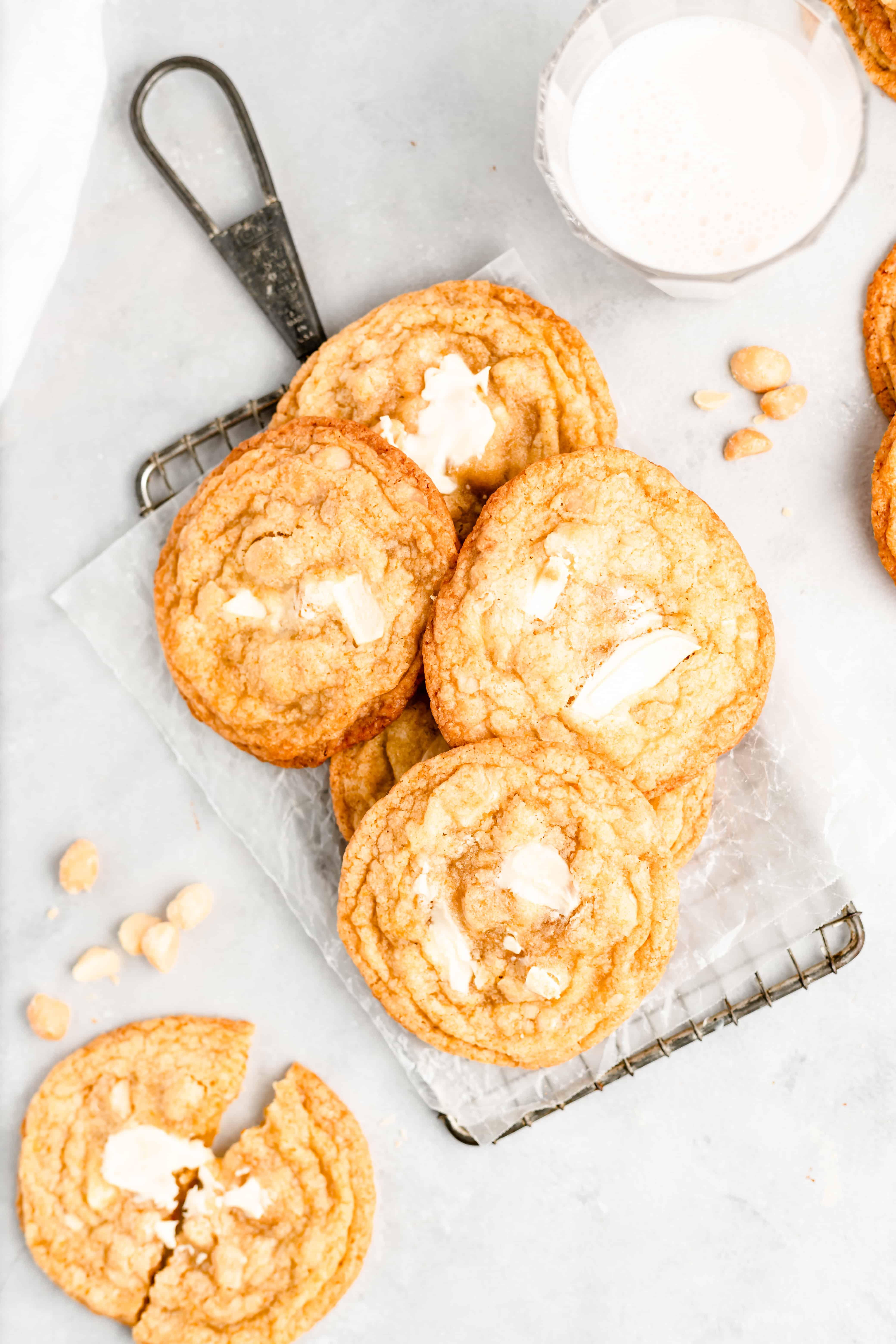 Pan-Banging White Chocolate Macadamia Nut Cookies