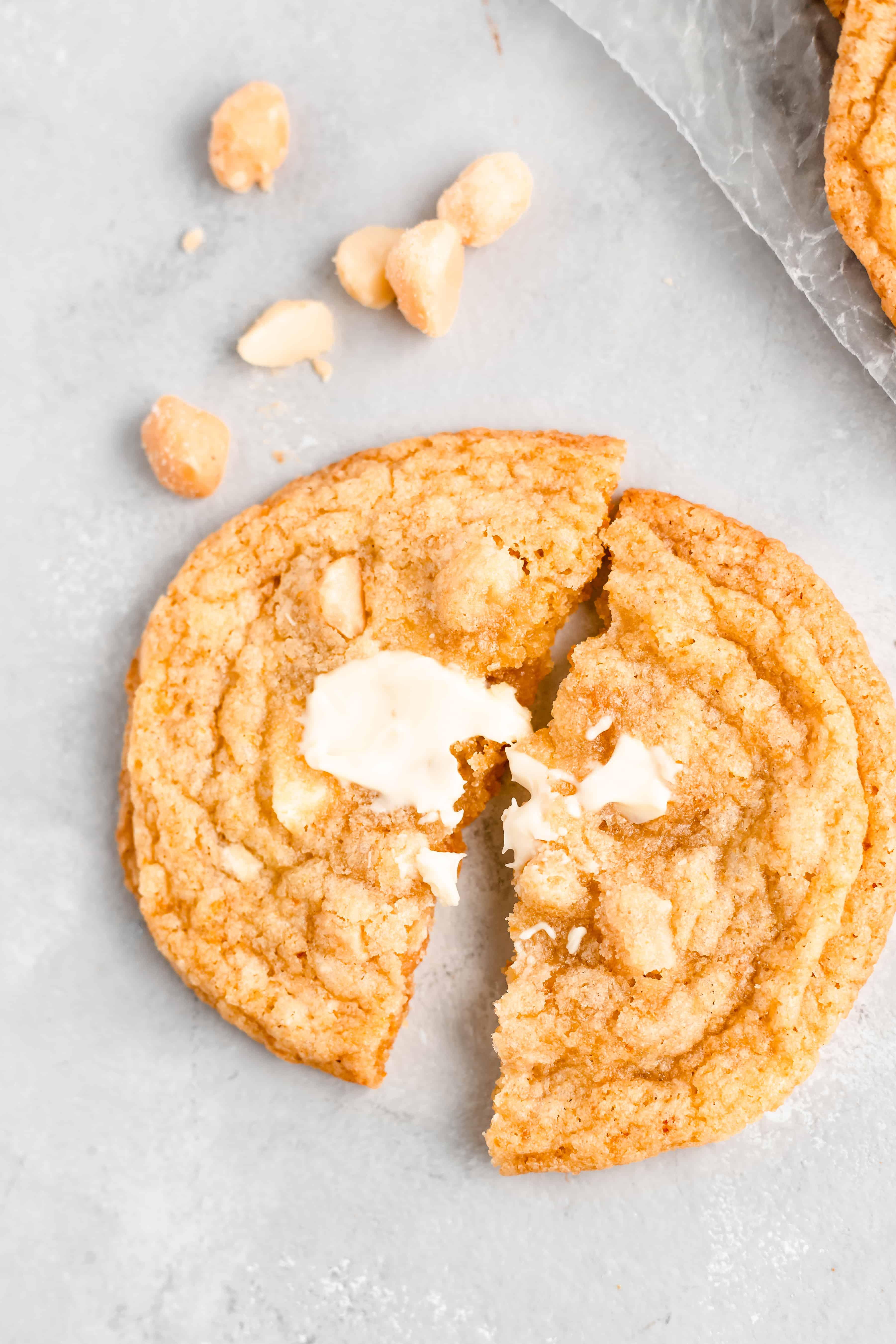 White Chocolate Orange Macadamia Nut Cookies