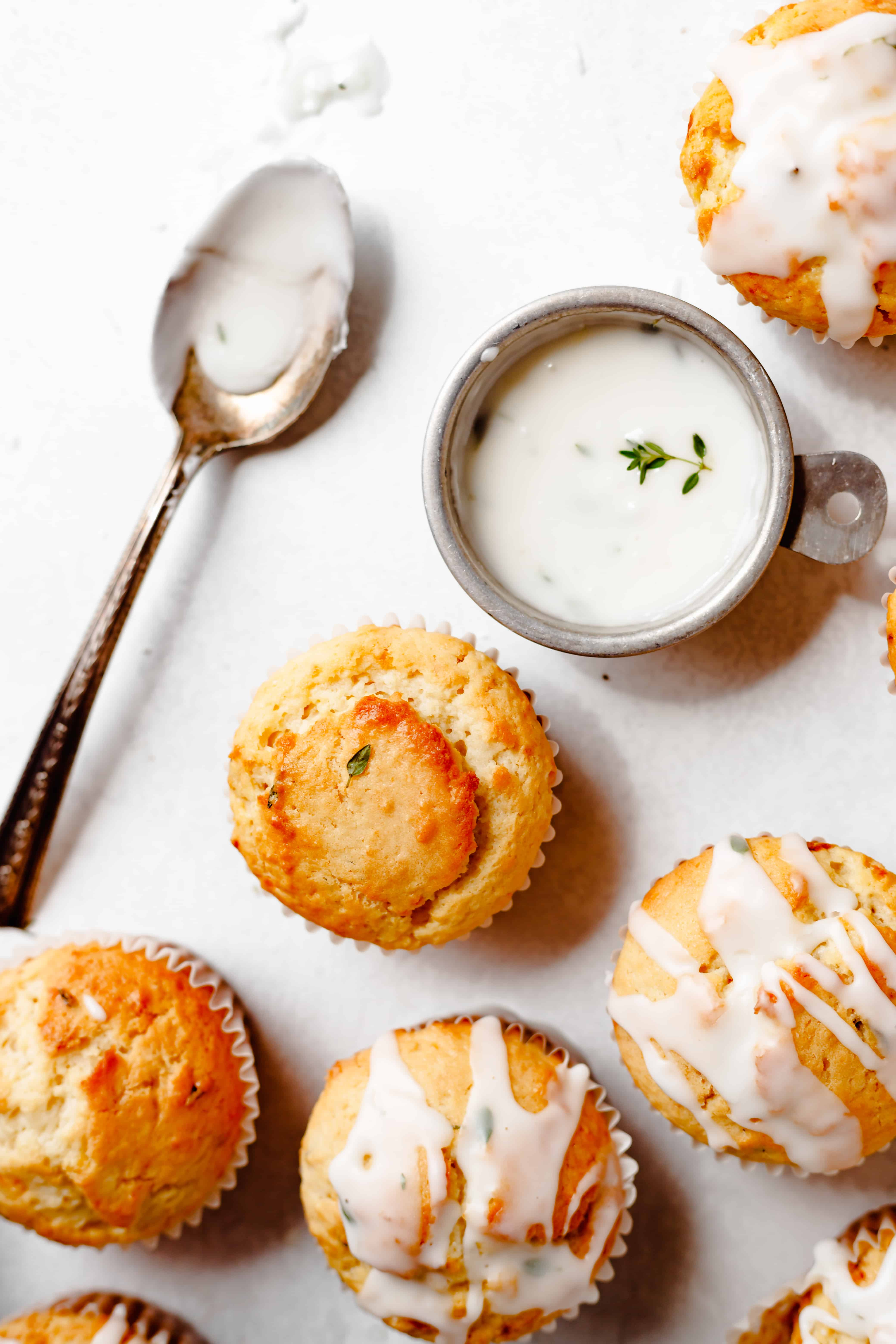 lemon muffins with glaze