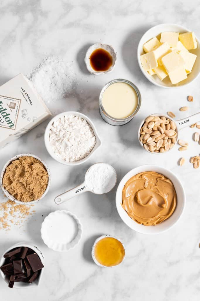 Peanut Butter Millionaire Bars ingredients