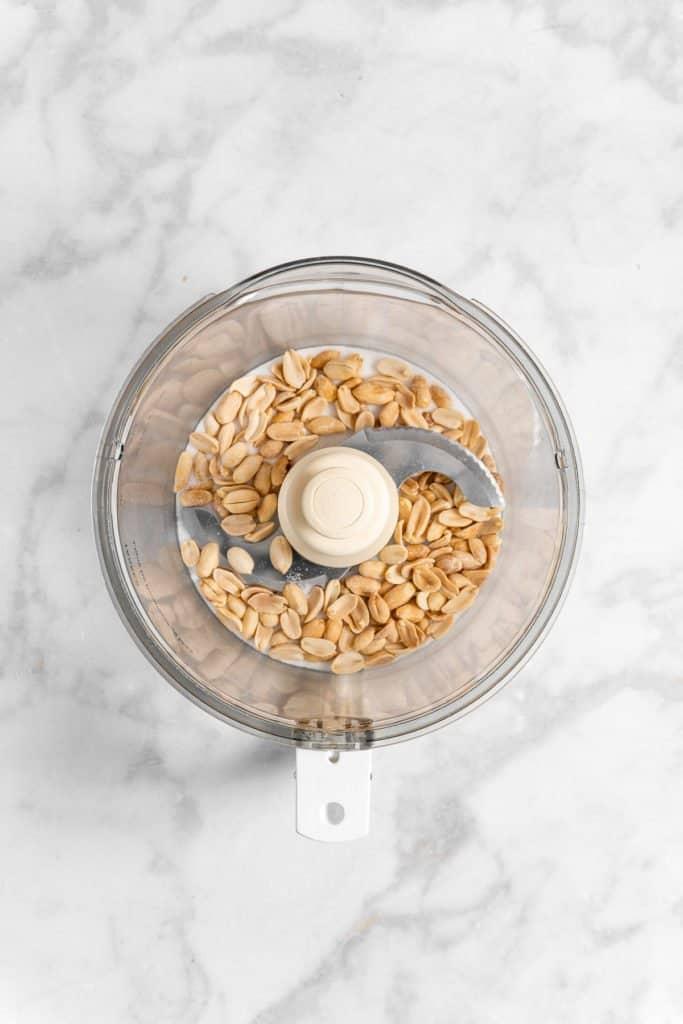 peanuts in a food processor