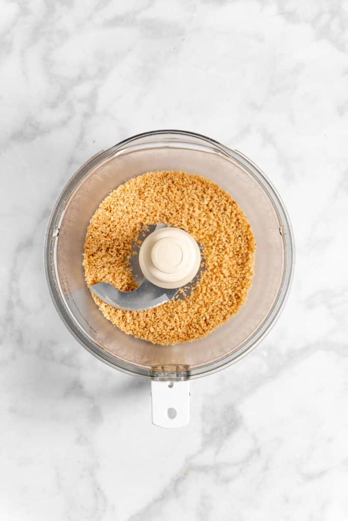 ground peanuts in a food processor
