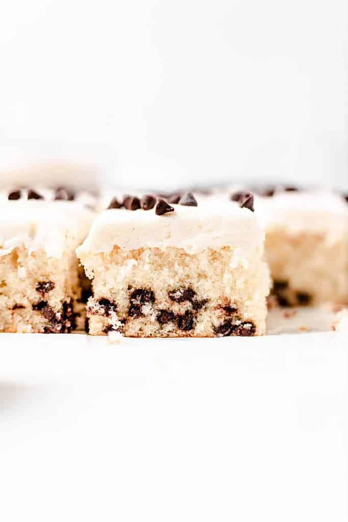 chocolate chip vanilla cake