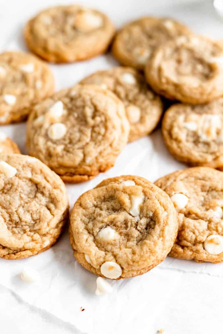 brown butter banana white chocolate chip cookies