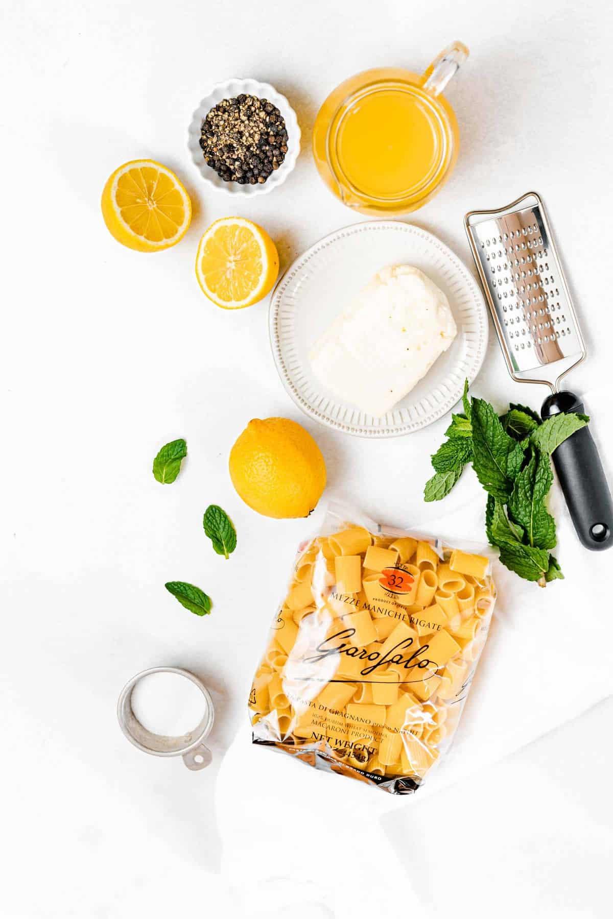 lemon pasta ingredients