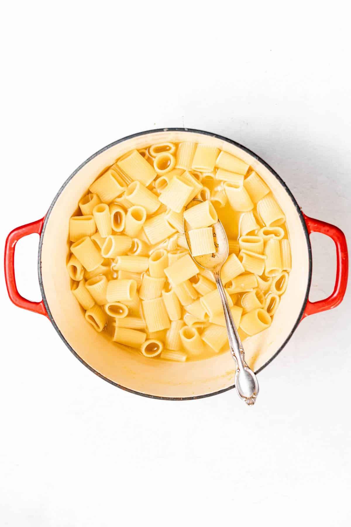pasta in a pot