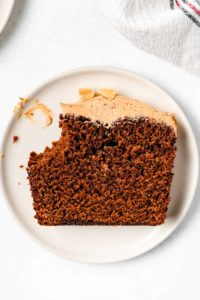 slice of gingerbread cake