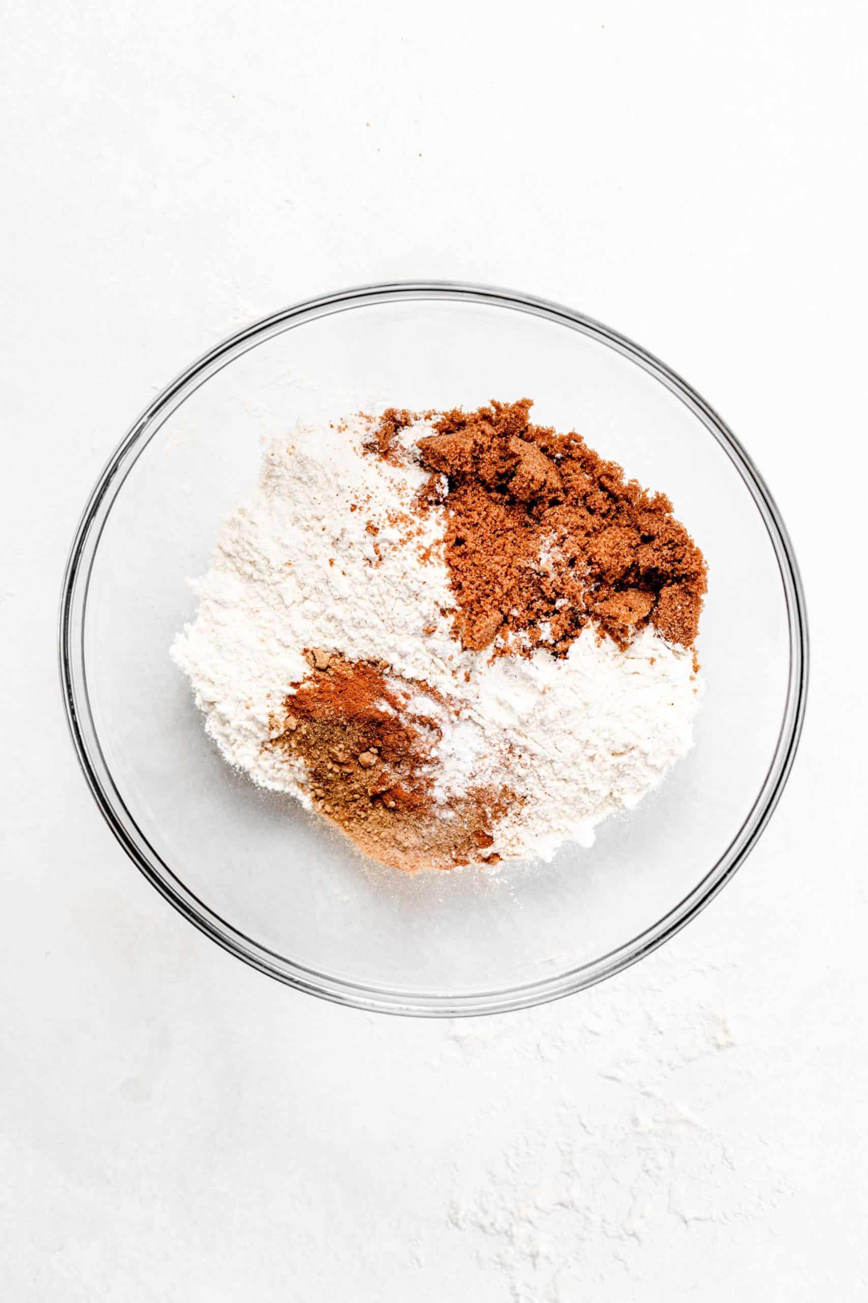 gingerbread ingredients in bowl