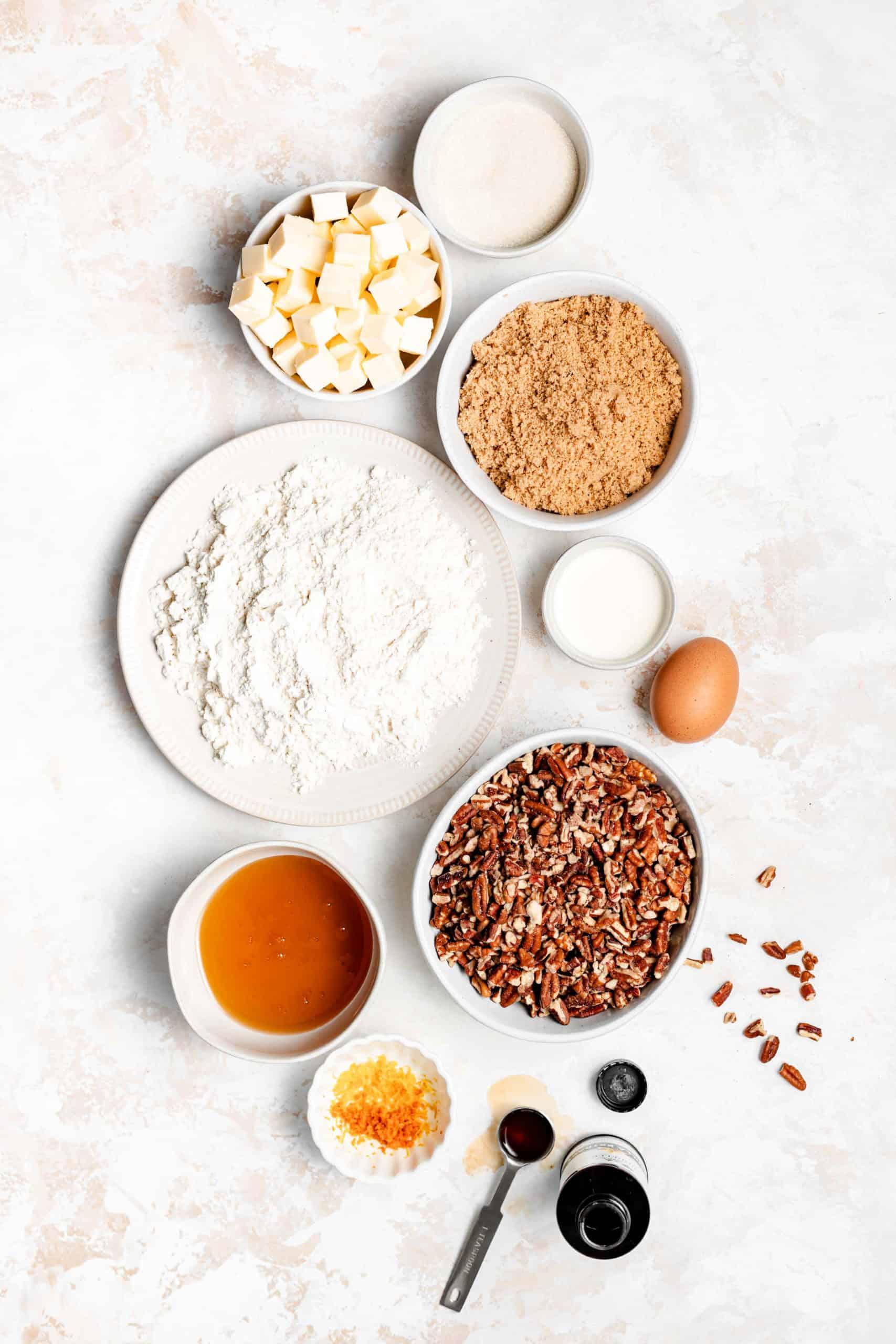 caramel pecan shortbread bars ingredients